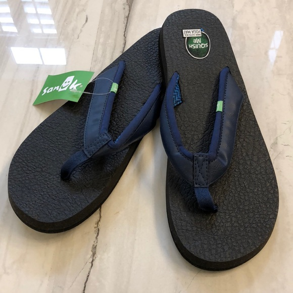 d8a8c23cbbf7 NWT Sanuk Yoga Mat 2 Flip Flop sandal navy 11